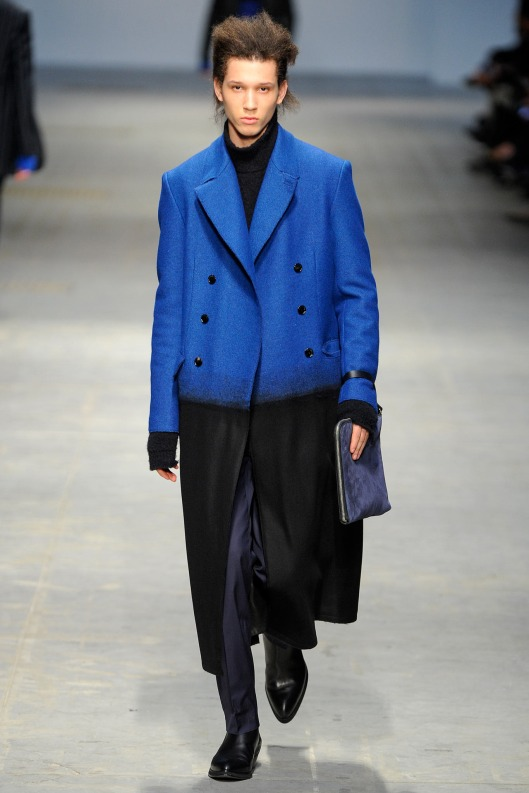 menswear, overcoat, costume national, blue/black