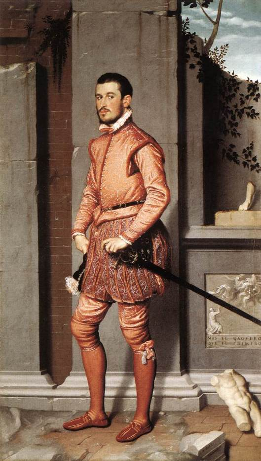Moroni, the gentlema in pink, 1560 from wga.hu