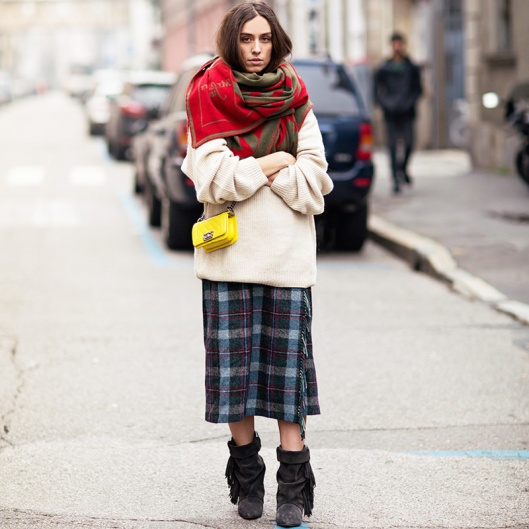 scarf, street styling
