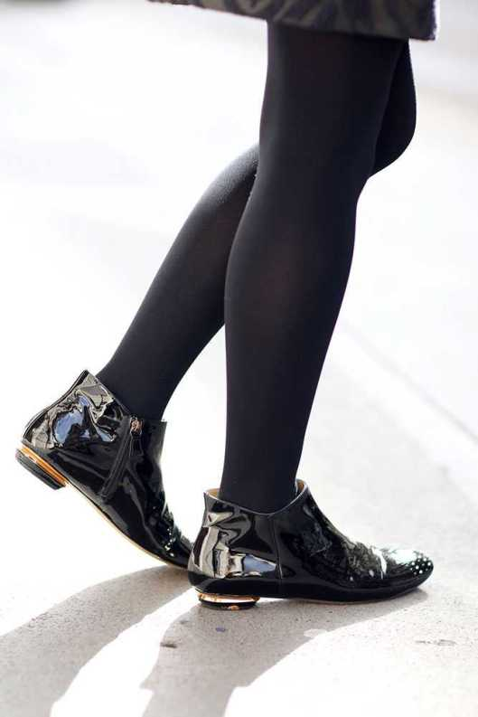 shoe boots, Nicholas Kirkwood, patent leather from elleuk kirsty-dale-3-what-elle-wears-21-october-2014-silvia-olsen__large