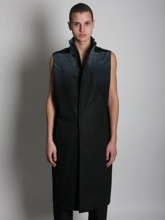 rick owens, men, sleeveless coat