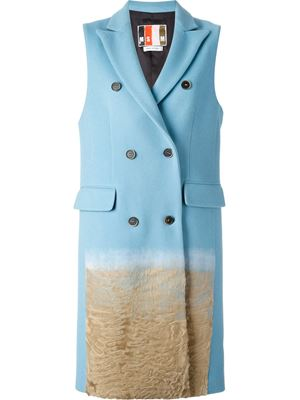 MSGM, sleeveless coat, textured