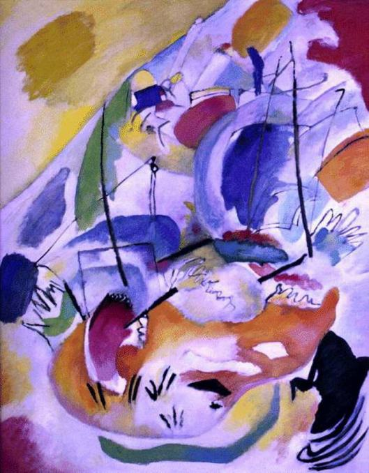 kandinsky painting, imorvisation 31(sea battle) 1931