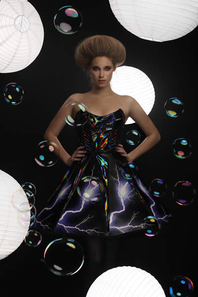 wearable technology, thunderstorm dress, rainbow winters