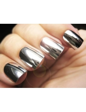 silver nail varnish