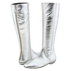 silver metallic knee high boots, juicy couture