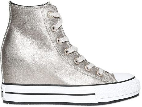 silver metallics, converse high tops