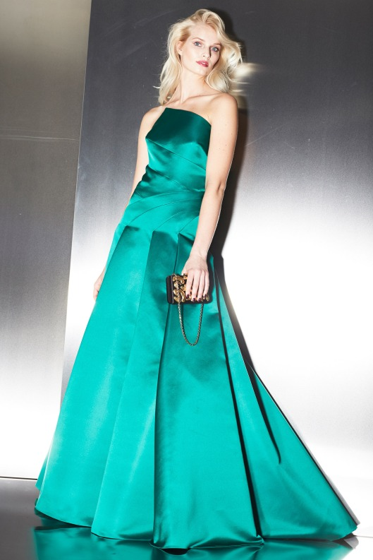 autumnal green gown, Escada