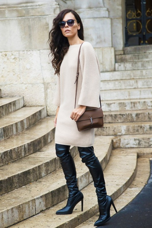 boots, street, thigh high stiletto