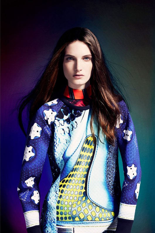 clothes, mary katrantzou_adidas hapersbazaar.co.uk -Originals-by-Mary-Katrantzou-AW14-model_1