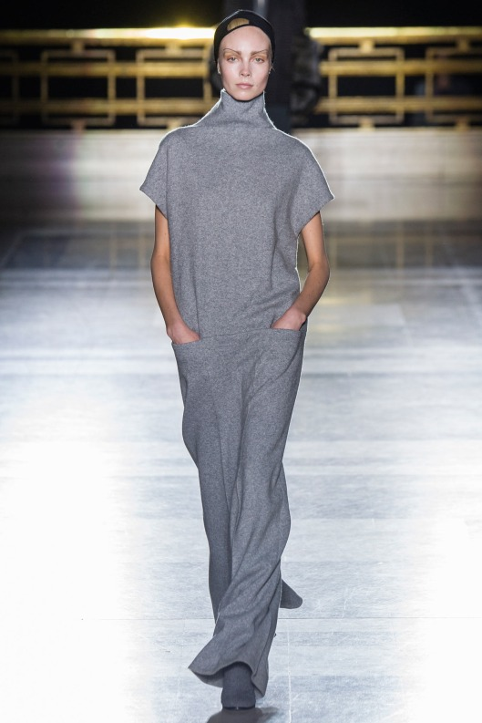 grey maxi sweater dress, from Haider Ackermann