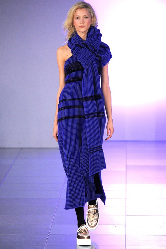tube top maxi with matching scarf, by Mark Fast