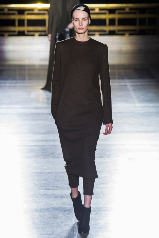 match set, black sweater dress/ trousers by Haider Ackermann
