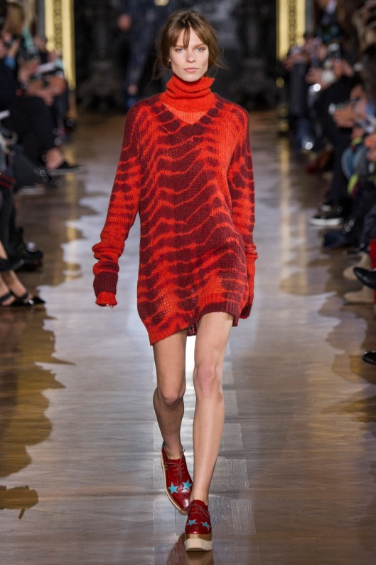 red jumper dress, stella mccartney
