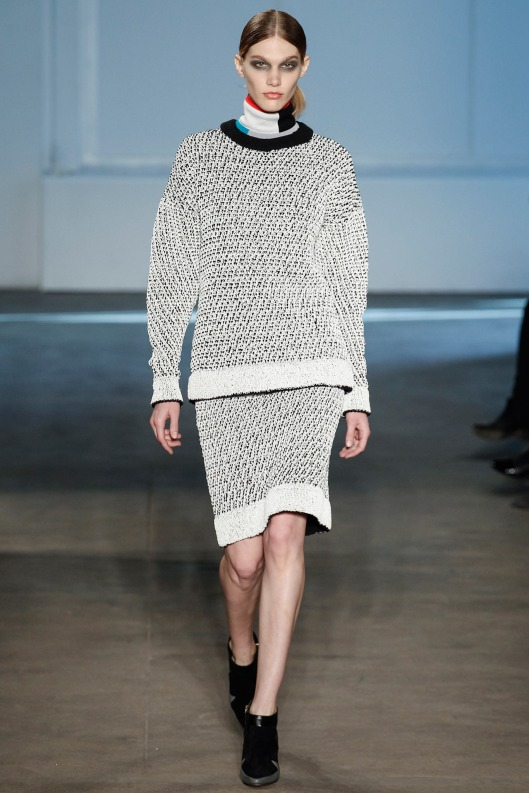 match set, silvery grey  jumper/skirt by Derek Lam