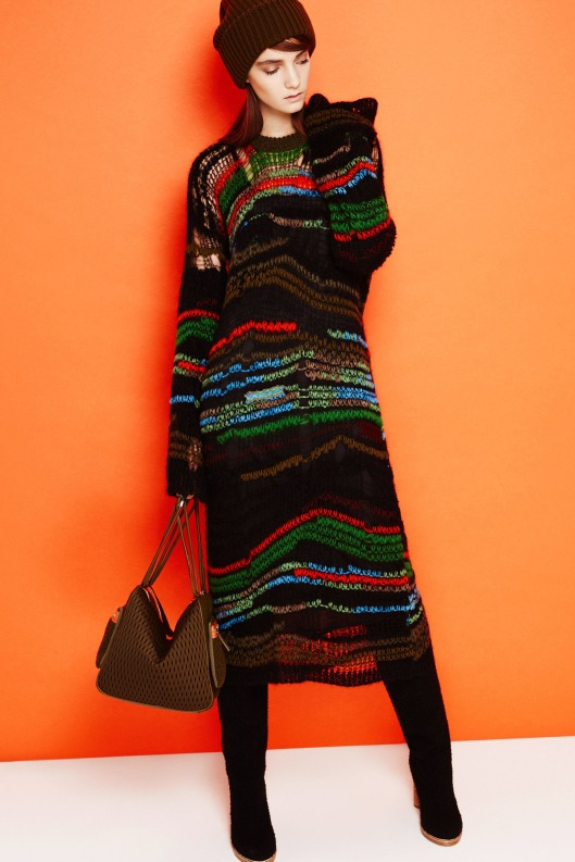 sweater dress, graphic lines, colour infused, from M Missoni