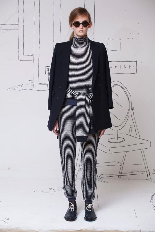 knitwear match set, roll neck jumper / trousers by Band of Outsiders