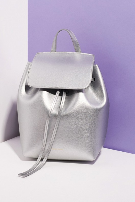 silver metallic bag, mansur gavriel, opening ceremony