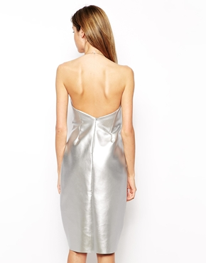 silver metallic dress back, gemma goldstone