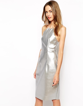silver metallic dress, gemma goldstone