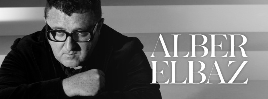 alber elbaz, portrait with name