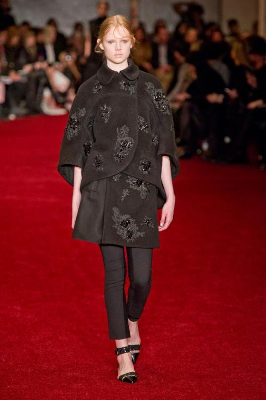 erdem, layered, chocolate brown, embellished