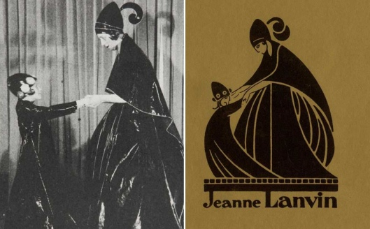 photo of Mme. Lanvin and her daugher Marguerite, image inspired company logo
