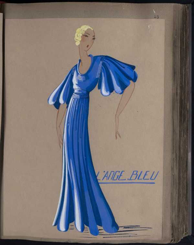 jeanne Lanvin, luxurydaily.com sketch-125-Pinterest-Blue