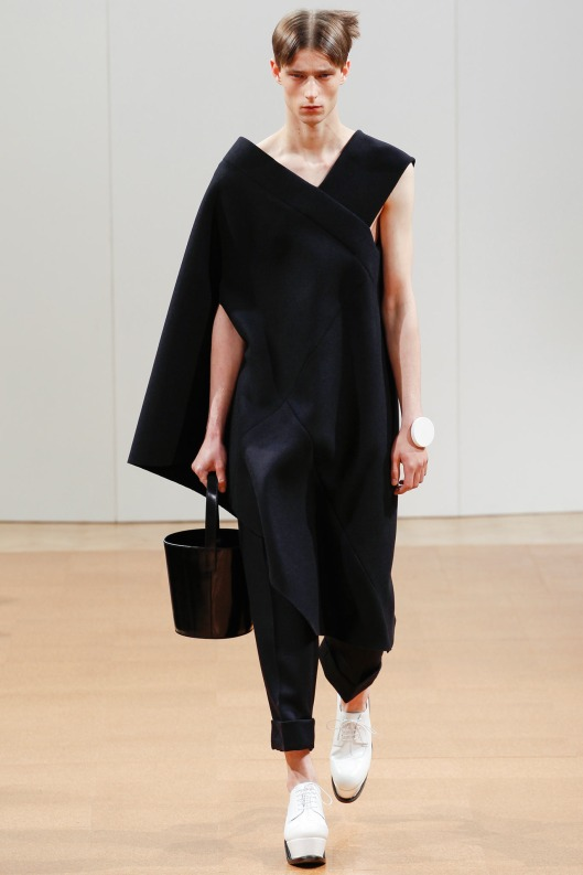 jw anderson, men, a14, asymmetric sleeveed tunic