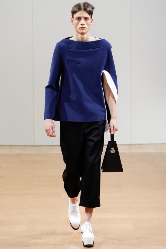 jw anderson, men, a14, asymmetric top/sleeve