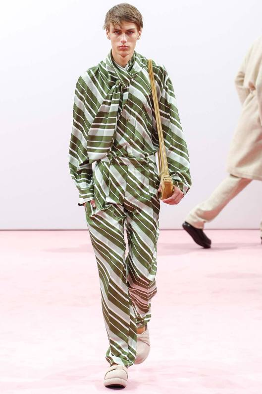 jw anderson, men, ss15, graphic shirt/trouser suit