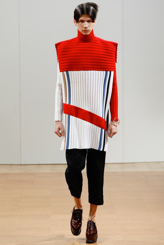 jw anderson, men, a14, long length squared jumper