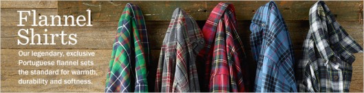 L.L. Bean flannel shirts
