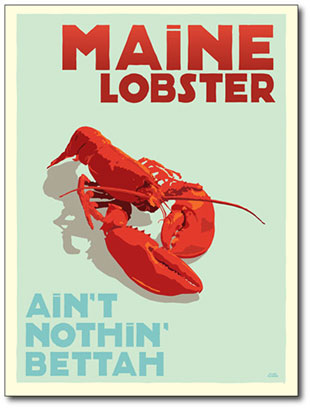 L.L. Bean, main lobster poster