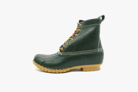 L.L. Bean, duck boots, green