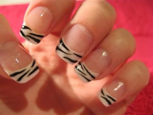 nail beauty, animal print tips, from naildesigns2014.com acrylic nails designs-rZxi-300x225