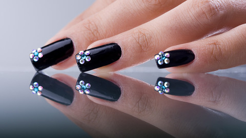 nail beauty, bejewelled