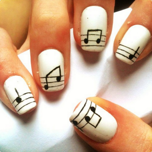 nail beauty, musical note, naildesigns2014.com cool nail design pics-PutB