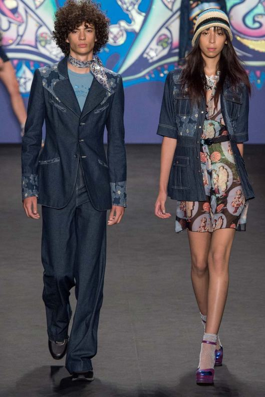 spring 2015, men, denim, suit,  anna sui