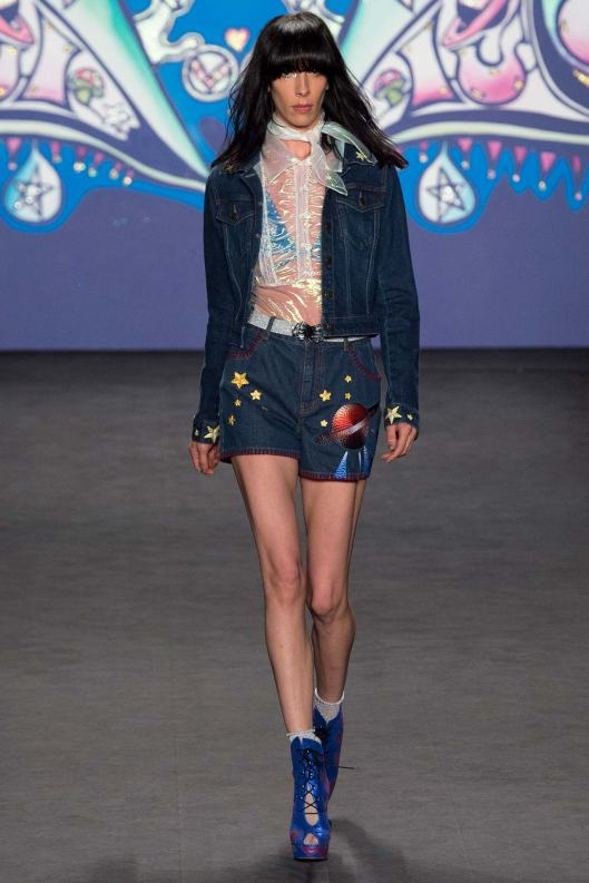 spring 2015, anna sui, shorts/jacket