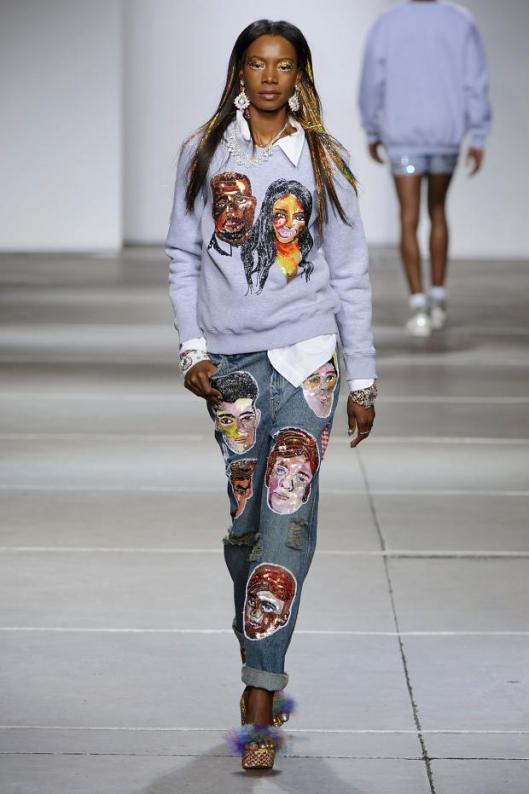 spring 2015. denim, ashish, trousers, face images