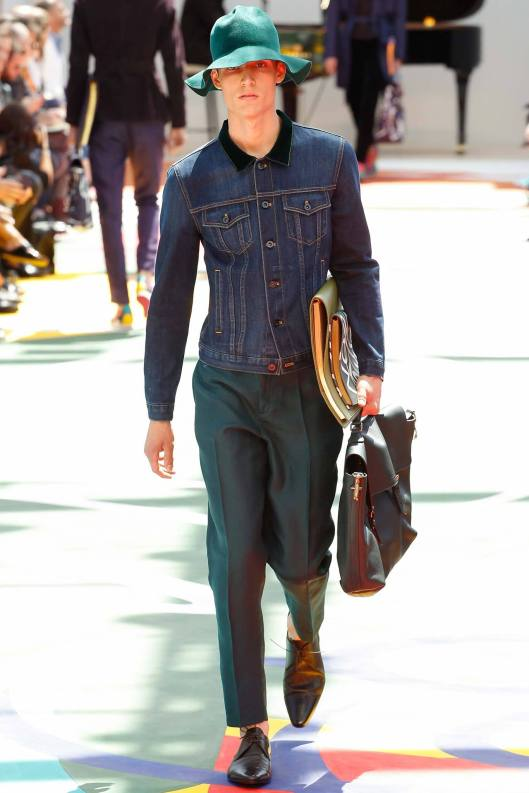 spring 2015, denim, men burberry prorsum, jacket