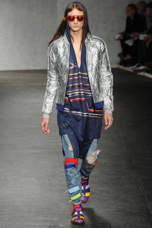 spring 2015, denin, james long,distressed/patchwork trousers