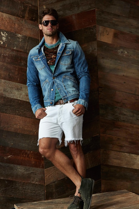 spring, denim, men, white short trousers, michael bastian,