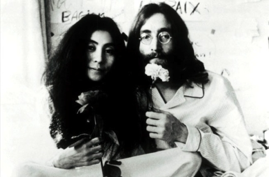yoko ono and john lennon, portrait