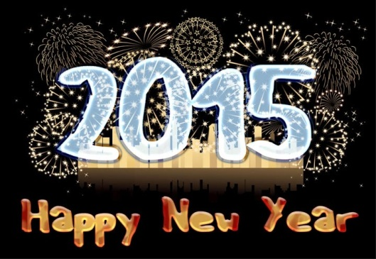 2015, happy new year world