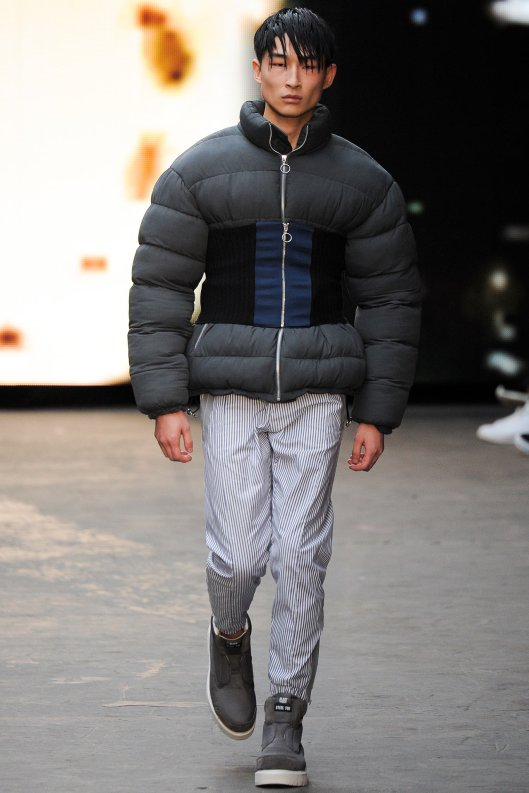 fall 2015, men, christopher shannon, waist-cinched puffer