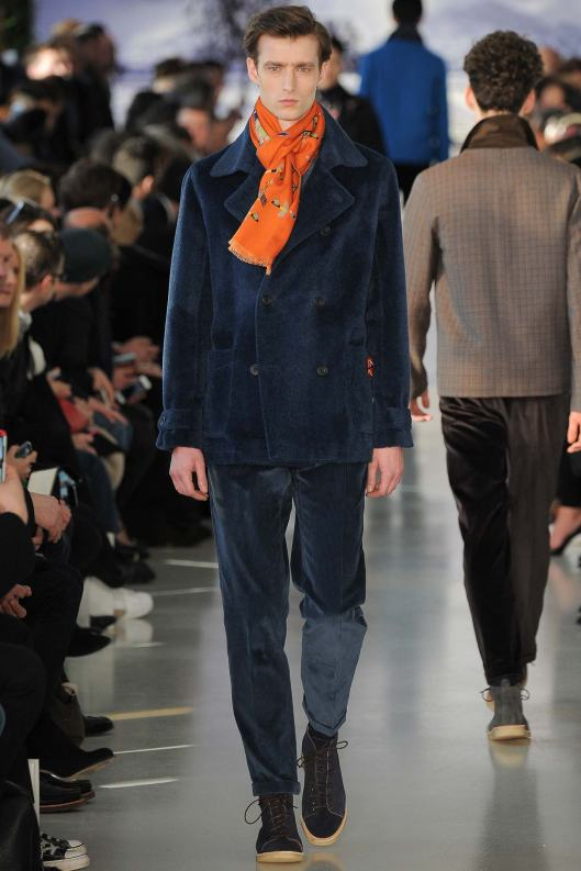 fall 2015, men, richard james, blue texture suit