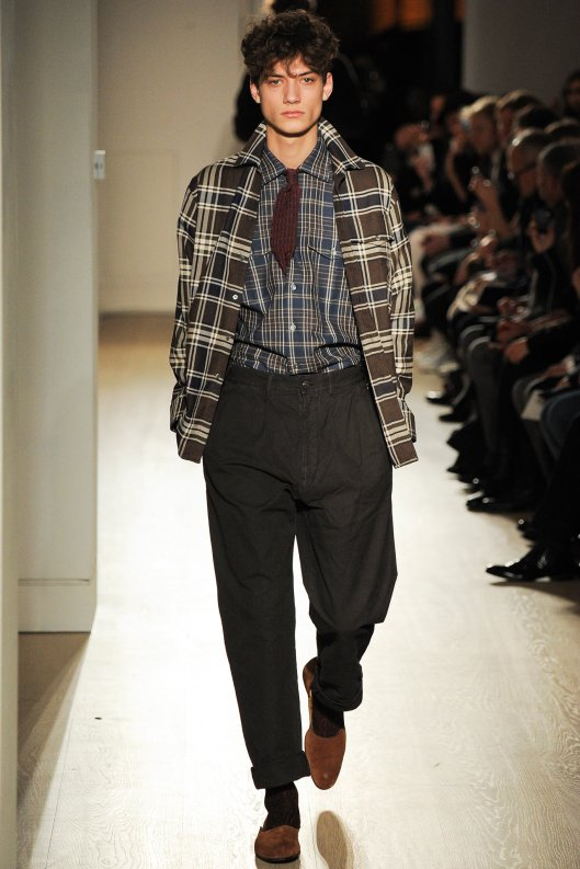 fall, 2015, men, dunhill, plaid on plaid