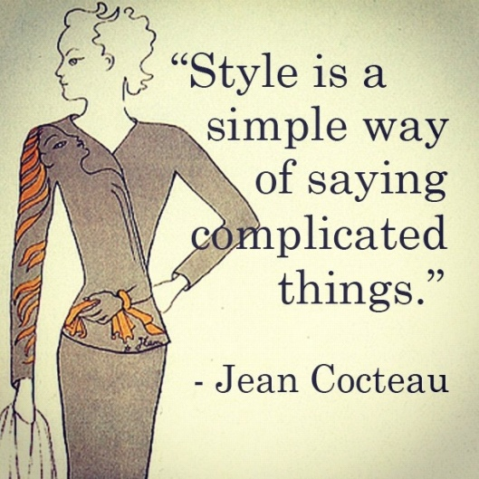 quote on style, jean cocteau,